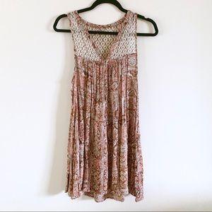 UO | Ecote | Boho Pattern Mini Sundress Sz M